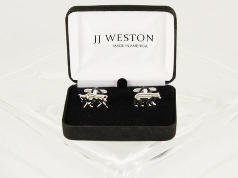 Boy's Cuff Links 6588 Silver Boys Cufflinks JJ Weston