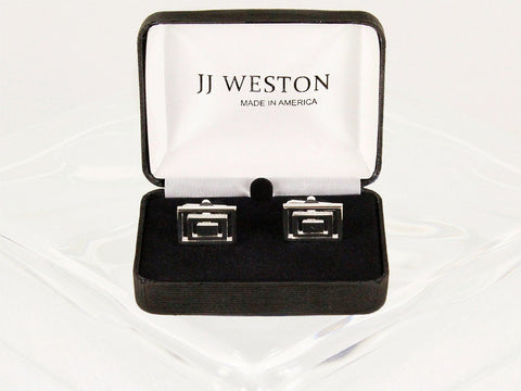 Boy's Cuff Links 6589 Silver Boys Cufflinks JJ Weston
