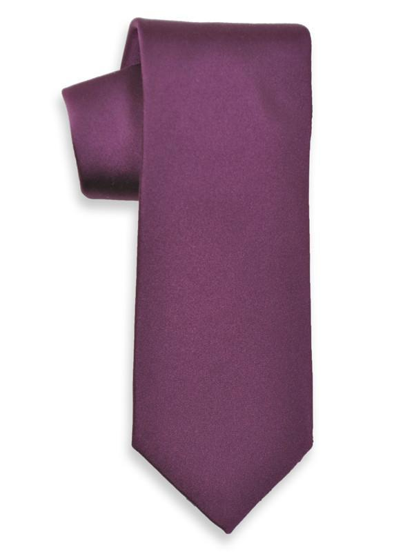 Heritage House 6624 100% Woven Silk Boy's Tie - Solid - Purple(17) Boys Tie Heritage House