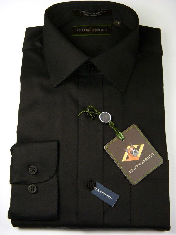 Boy's Dress Shirt 6655 Black Boys Dress Shirt Joseph Abboud