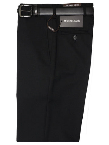 Michael Kors 718P Black Boy's Suit Separate Pant - Solid Gabardine - 100% Tropical Worsted Wool Boys Suit Separate Pant Michael Kors