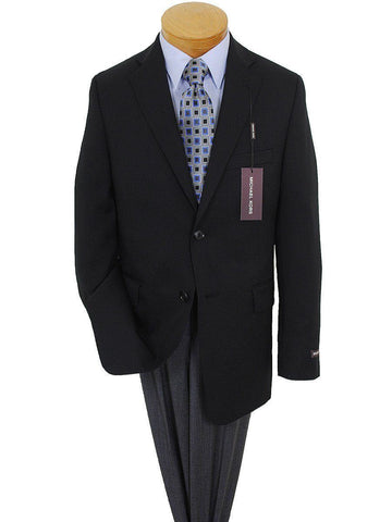 Image of Michael Kors 718 2B 100% Tropical Worsted Wool Boy's Blazer - Solid Gabardine - Black, 2-Button Single Breasted Boys Blazer Michael Kors