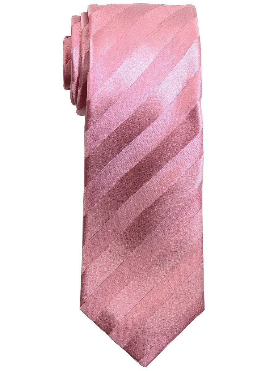 Heritage House 7505 100% Silk Boy's Tie - Tonal Stripe - Bubble Gum Boys Tie Heritage House