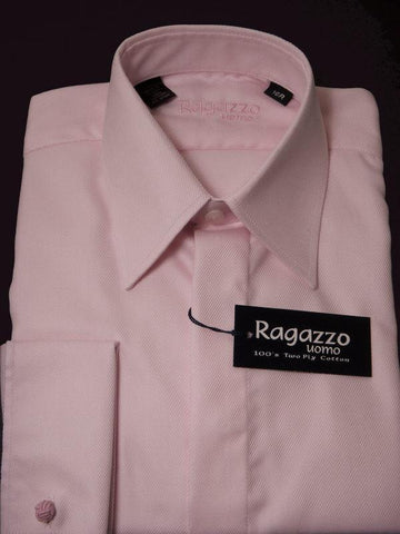 Ragazzo 7541 Boy's Pink French Cuff Dress Shirt - 100% Cotton Boys Dress Shirt Ragazzo