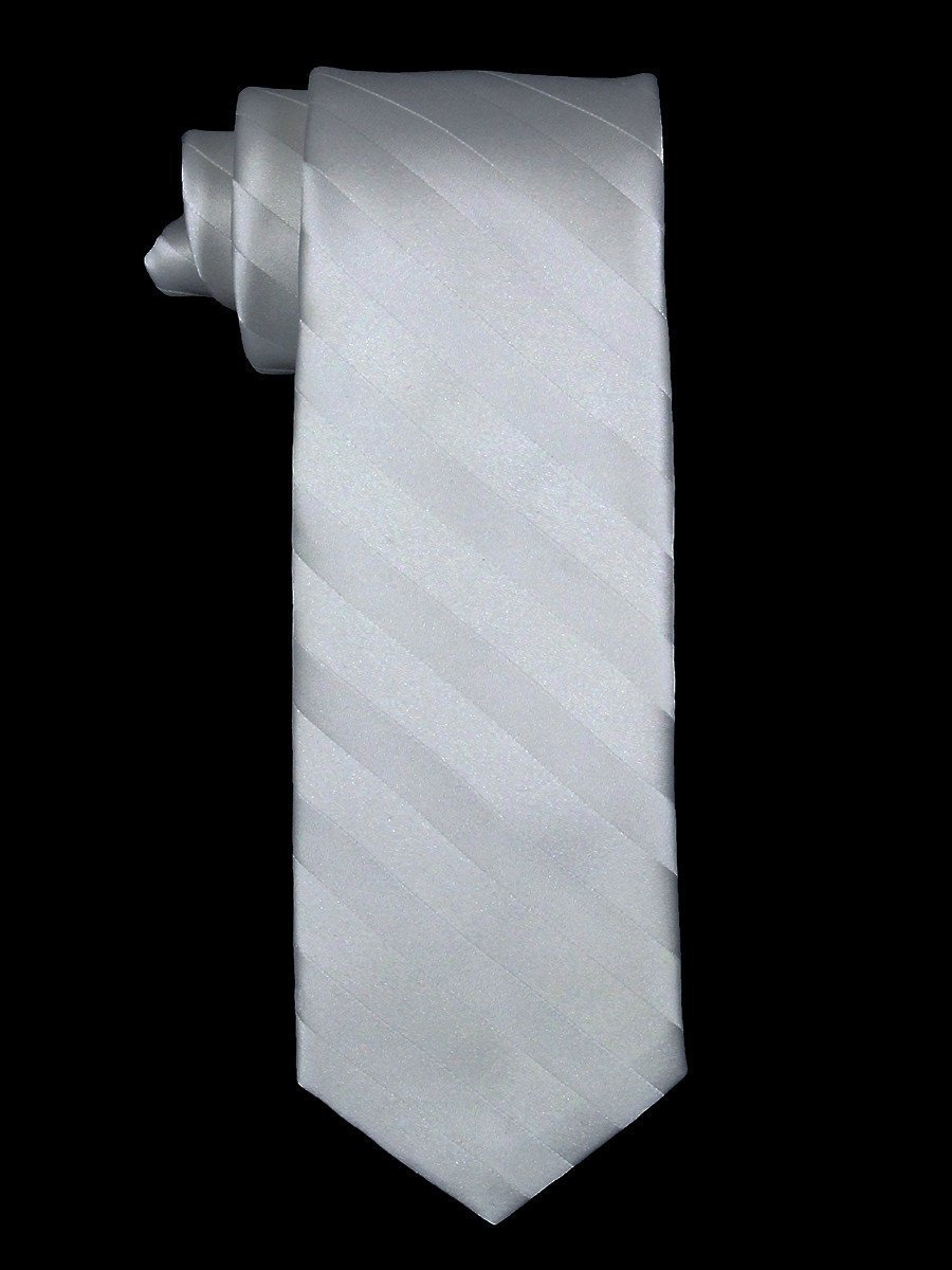 Heritage House 7543 100% Silk Boy's Tie - Broad Stripes - White Boys Tie Heritage House