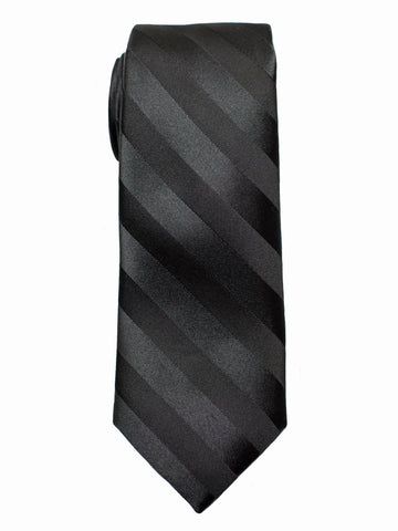 Heritage House 7544 100% Woven Silk Boy's Tie - Tonal Stripe - Black(4) Boys Tie Heritage House