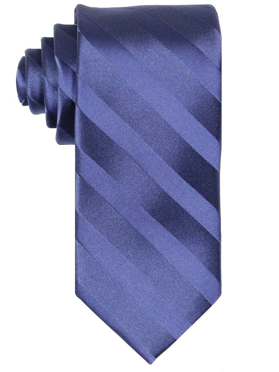 Heritage House 7555 100% Woven Silk Boy's Tie - Tonal Stripe - Blue Boys Tie Heritage House