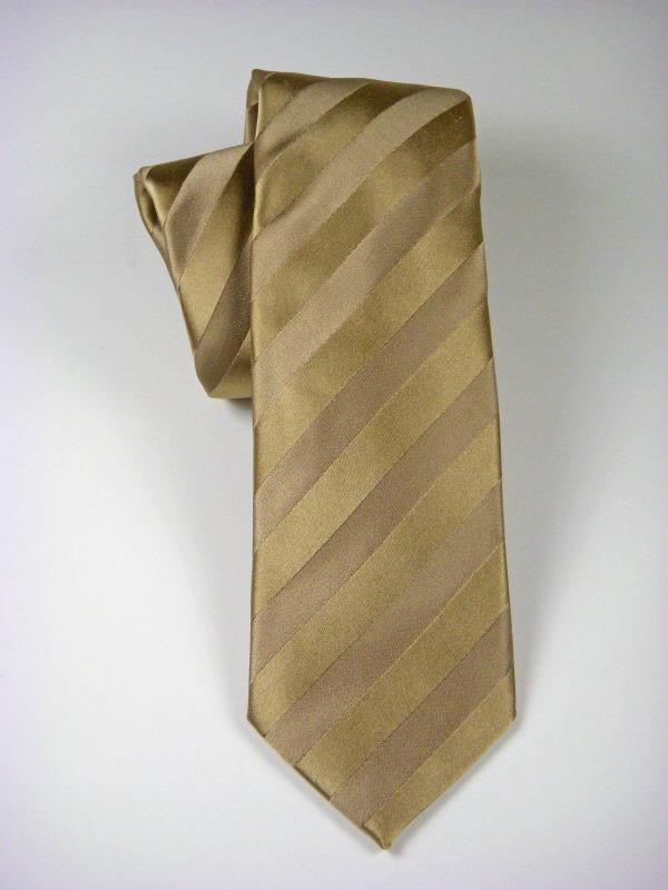Heritage House 7561 Sand Boy's Tie - Tonal Stripe - 100% Silk Woven - Wool blend lining Boys Tie Heritage House