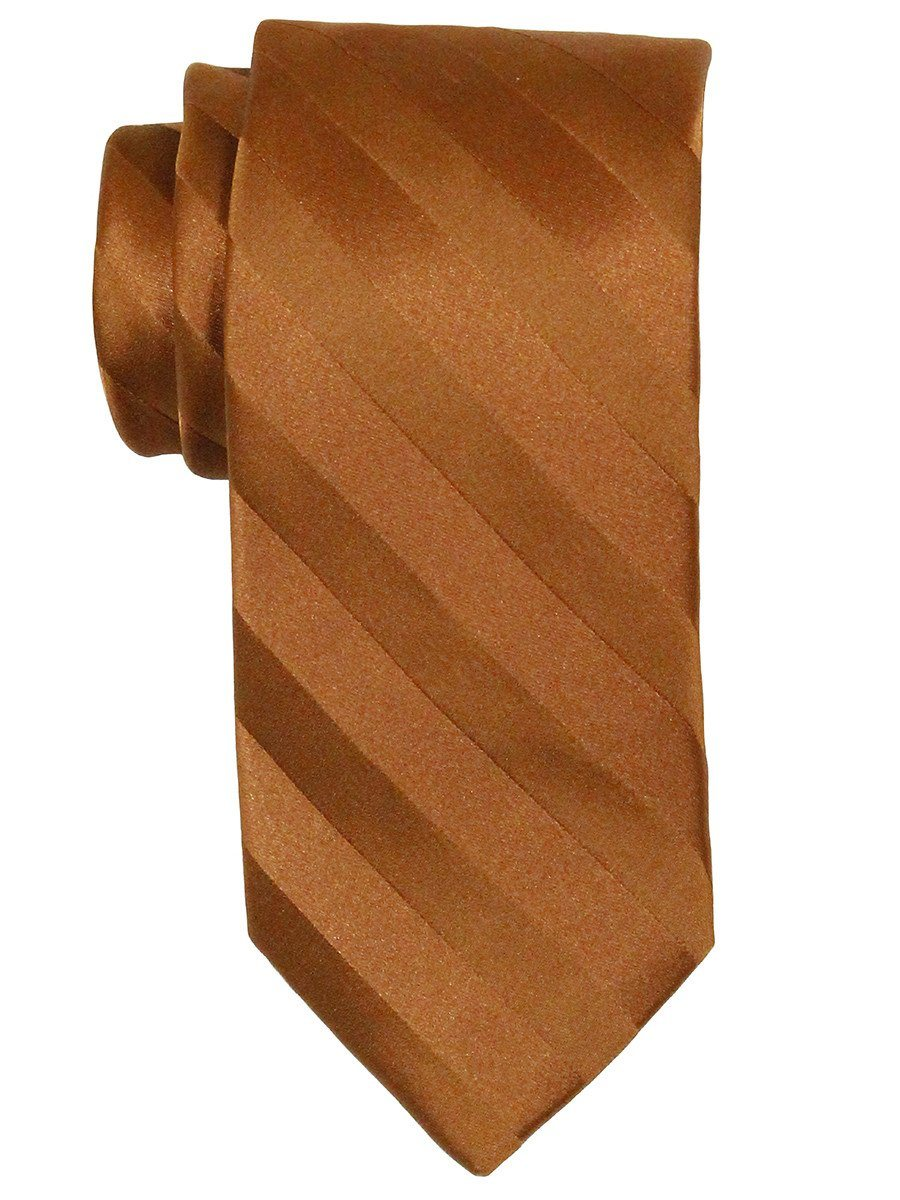 Heritage House 7563 100% Woven Silk Boy's Tie - Tonal Stripe - Rust Boys Tie Heritage House
