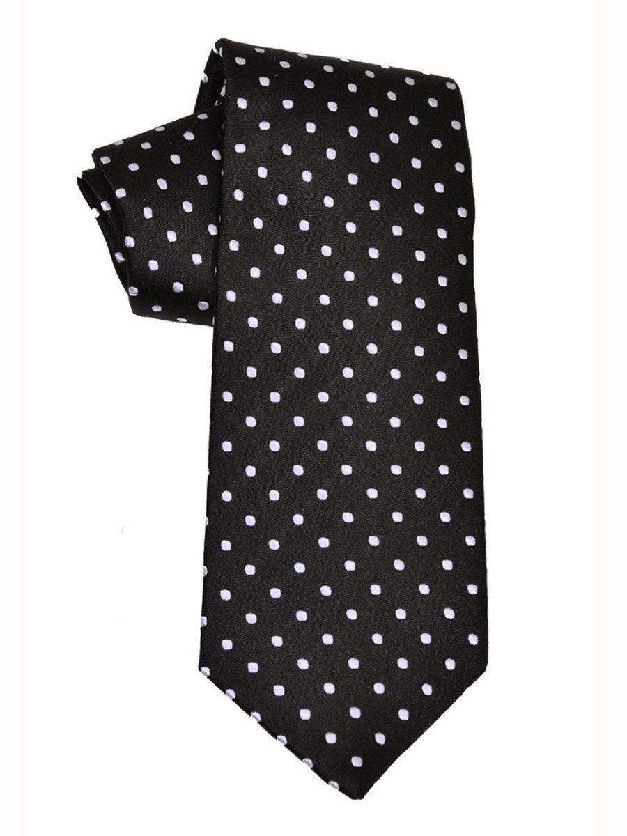 Boy's Tie 7584 Black/White Boys Tie Heritage House