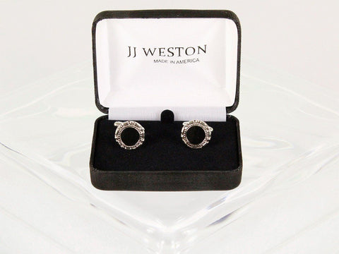 Boy's Cuff Links 7615 Silver Boys Cufflinks JJ Weston