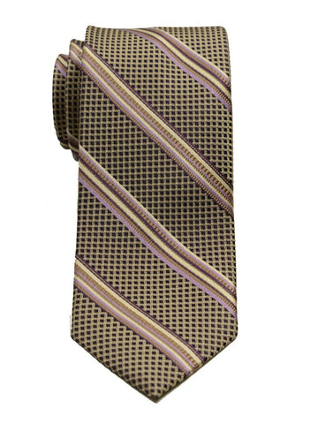 Heritage House 8055 100% Woven Silk Boy's Tie - Neat Stripe - Tan/Lilac Boys Tie Heritage House