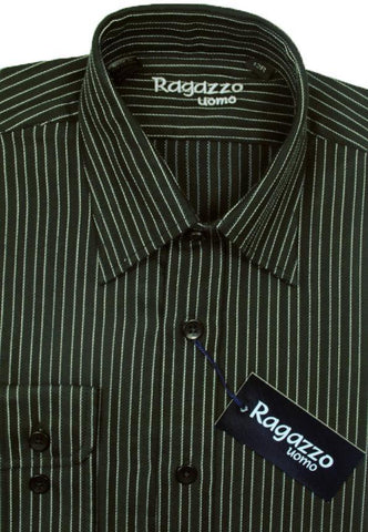 Boy's Sport Shirt 8434 Black Boys Dress Shirt Ragazzo