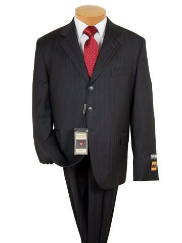 Image of Europa Boy's Suit- 8496-Black- Stripe Boys Suit Europa