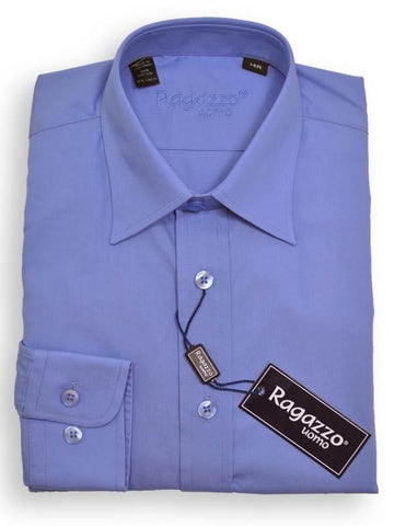 Boy's Dress Shirt 8668 French Blue Boys Dress Shirt Ragazzo