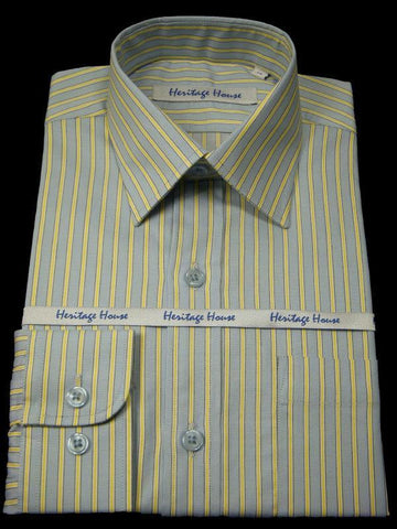 Boy's Dress Shirt 9002 Blue/Yellow Boys Dress Shirt Heritage House