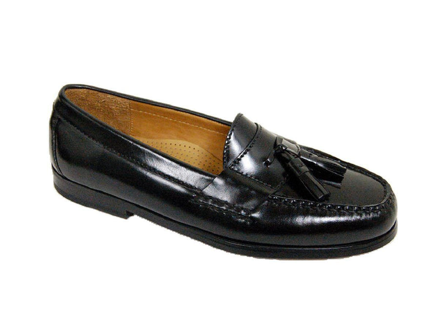Cole Haan 9128 Leather Boy's Shoe - Tassel Loafer - Black Boys Shoes Cole Haan