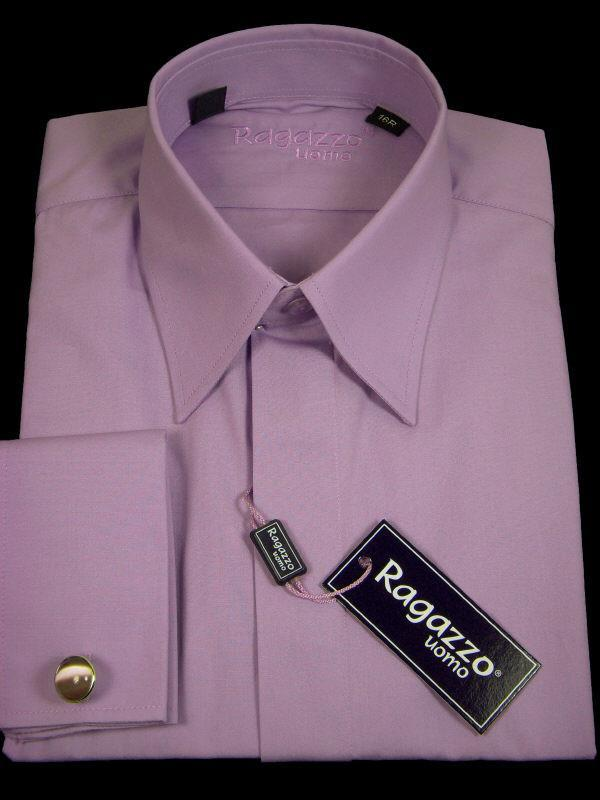 Boy's Dress Shirt 9319 Lavender Boys Dress Shirt Ragazzo