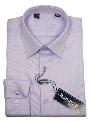 Ragazzo 9382 Lavender Boy's Dress Shirt - Tonal Diagonal Weave - 100% Cotton Boys Dress Shirt Ragazzo