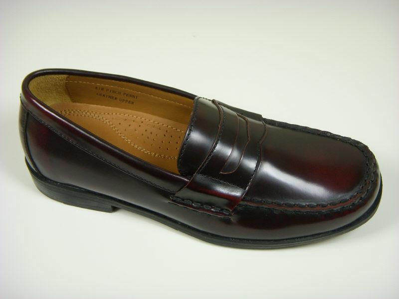 Cole Haan 9558 Leather Boy's Shoe - Penny Loafer - Burgundy Boys Shoes Cole Haan