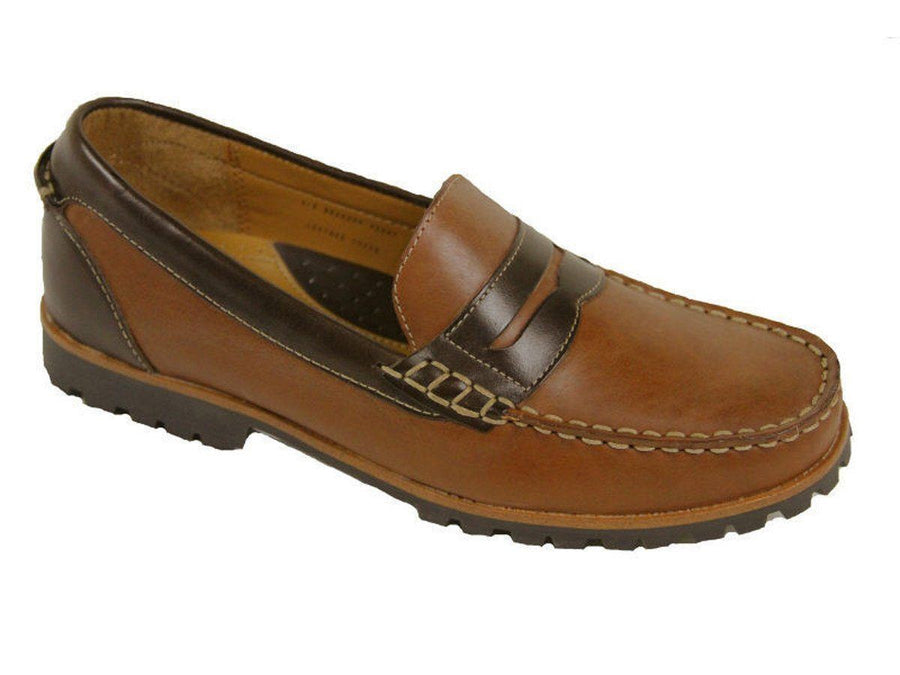 Cole Haan 9641 Leather Boy's Shoe - Penny Loafer - Cogn/Brown Boys Shoes Cole Haan