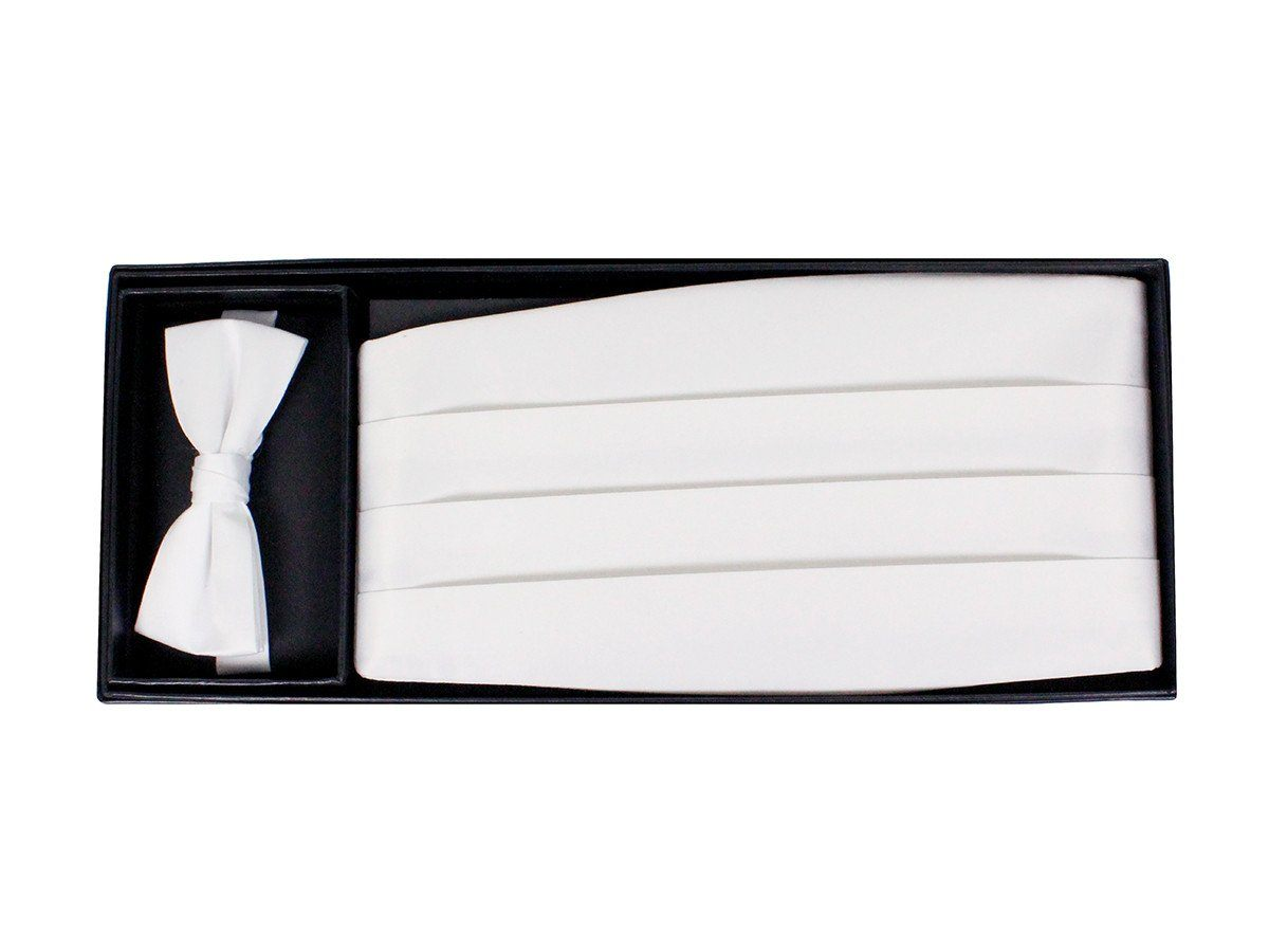 Boy's Cummerbund Set 9777 White