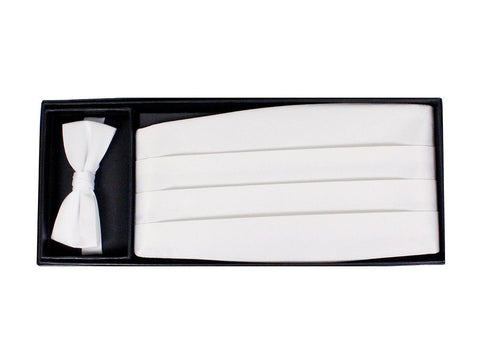 Boy's Cummerbund Set 9777 White Boys Cummerbund Set Giorgio Bissoni