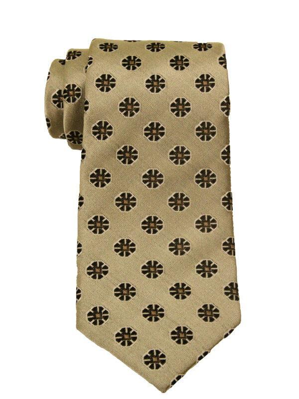 Heritage House 9846 Beige/Brown Boy's Tie - Neat - 100% Woven Silk, Wool Blend Lining Boys Tie Heritage House