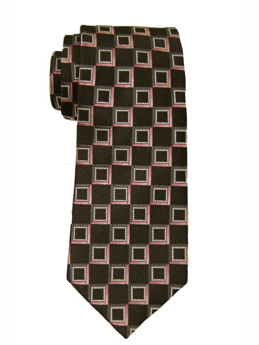 Heritage House 9851 Black/Pink Boy's Tie - Neat - 100% Woven Silk, Wool Blend Lining Boys Tie Heritage House