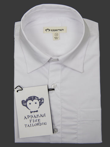 Appaman 27041 Boy's Dress Shirt- White- Solid Boys Dress Shirt Appaman