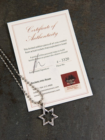 Star of David Rocket Necklace Boys Necklace The Israel Boutique