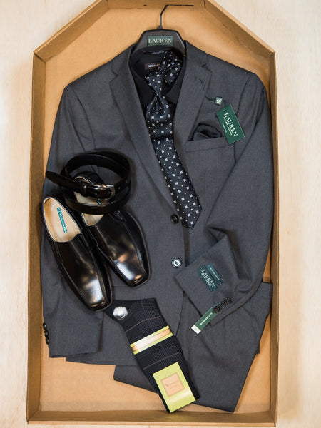Complete Grey Suit Outfit 23010