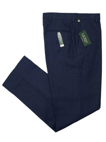 Lauren Ralph Lauren 26094P 100% Linen Boy's Suit Separate Pant - Solid - Navy Boys Suit Separate Pant Lauren
