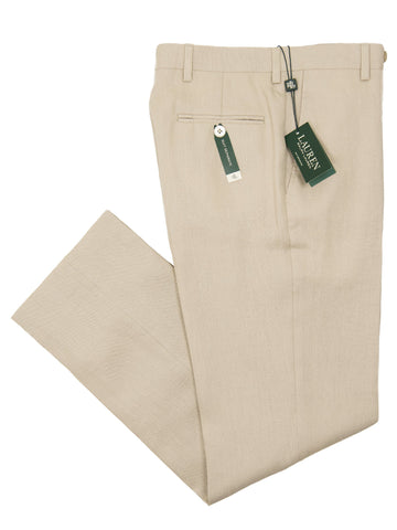 Lauren Ralph Lauren 26115P 100% Linen Boy's Suit Separate Pant - Solid - Tan Boys Suit Separate Pant Lauren