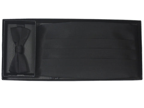Boy's Cummerbund Set 20218 Black Boys Cummerbund Set Heritage House