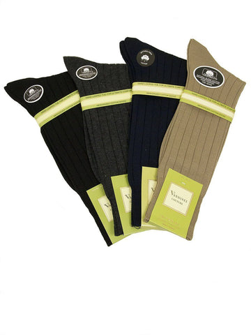 Men's Socks V18 Ribbed Mens Socks Vannucci