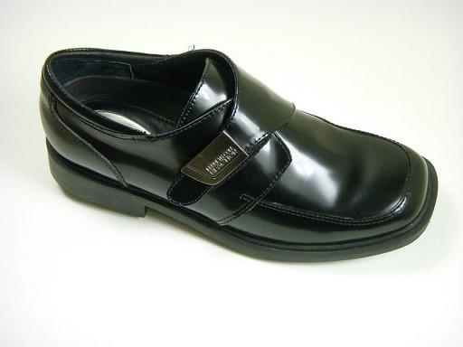 Reaction By Kenneth Cole 4771 Leather Boy's Shoe - Side Buckle - Black Boys Shoes Kenneth Cole