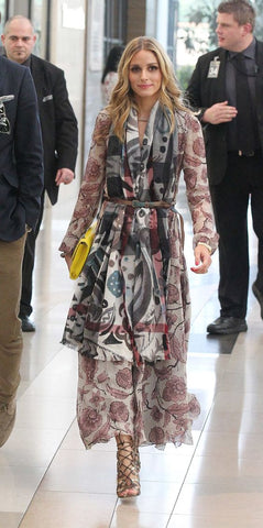 Olivia Palermo wearing a belted scarf