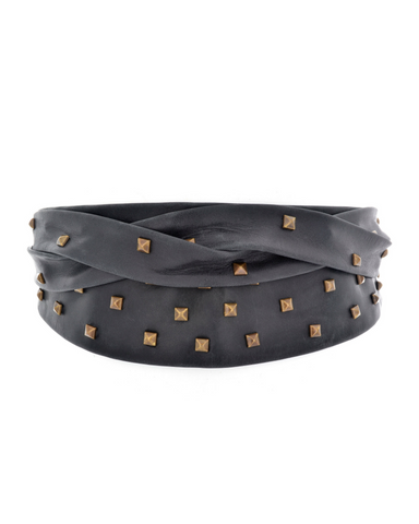 Pyramid Wrap Belt - Black