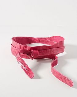 Wrap Belt - Fuchsia Croco