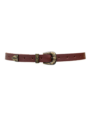 Wrap Belt - Forest Green Croco