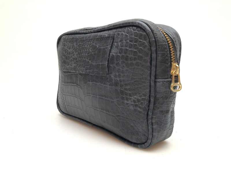 Cassandra Belt Bag - Black Croco