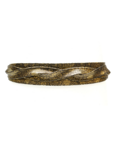 Midi Wrap Belt - Gold Mosaic