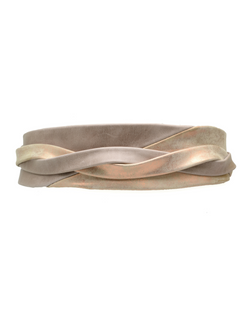 Minnie Wrap Belt - Taupe/Rose Shimmer