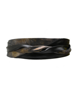 Minnie Wrap Belt - Black/Charcoal Shimmer