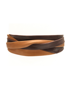 Minnie Wrap Belt - Tan/Chocolate