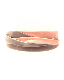 Minnie Wrap Belt - Taupe/Peach