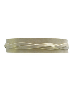 Olive Wrap Belt - Gold