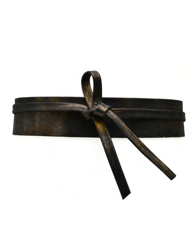 Olive Wrap Belt - Midnight