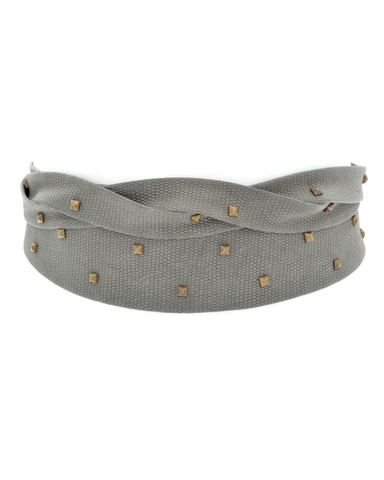Pyramid Wrap Belt - Charcoal